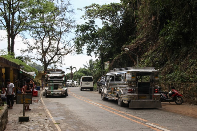Typical living conditions in the Philippines jeepney